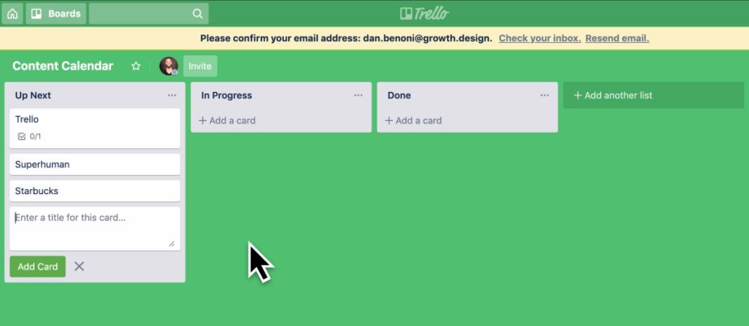 Доски, списки и задачи в приложении для планирования