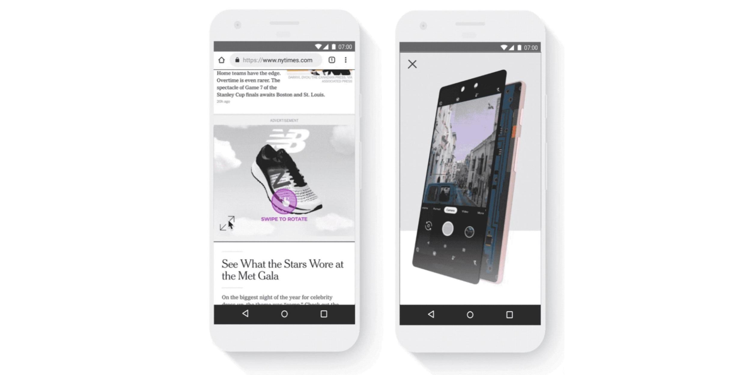 3D реклама в выдаче Google