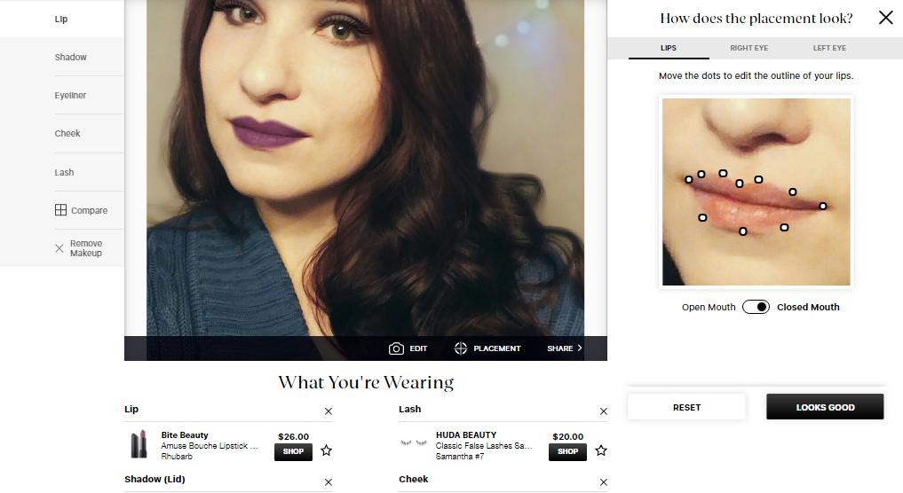 примерить макияж на сайте