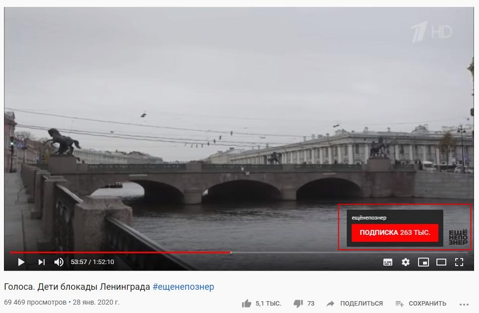 Водяной знак на YouTube