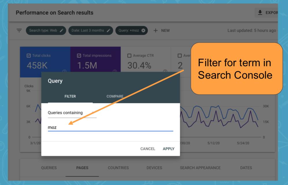Фильтр в Google Search Console