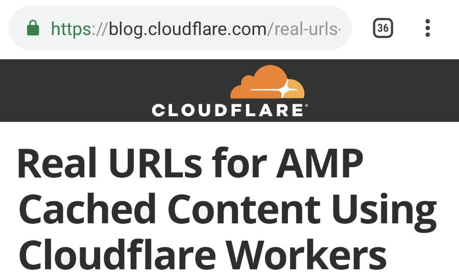Отображение реального URL на AMP-странице