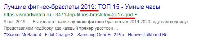 Дата в заголовке и URL
