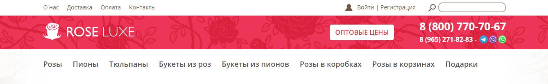 Шапка интернет-магазина