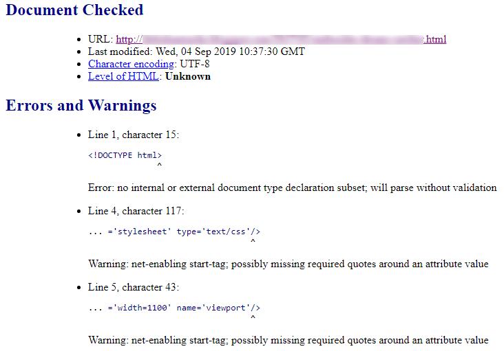 проверка html на валидность