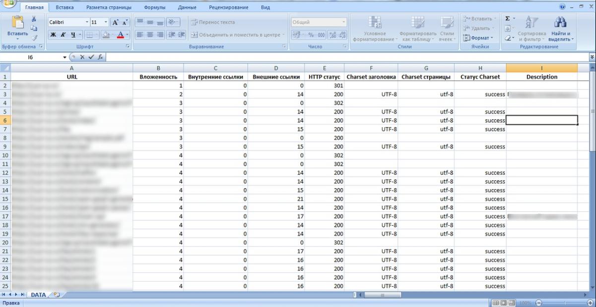 Скачать результаты анализа в таблице