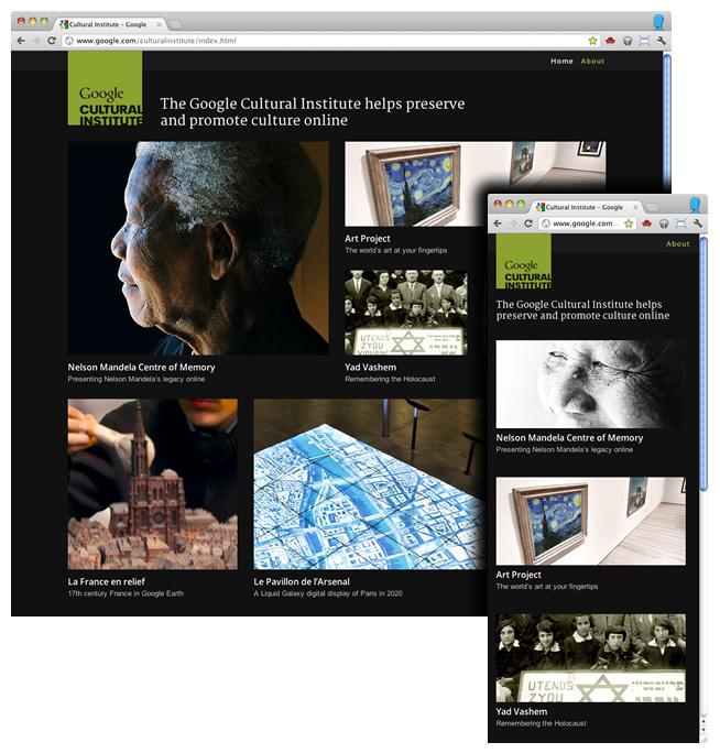 Сайт в горизонтальной и вертикальной ориентации на экране