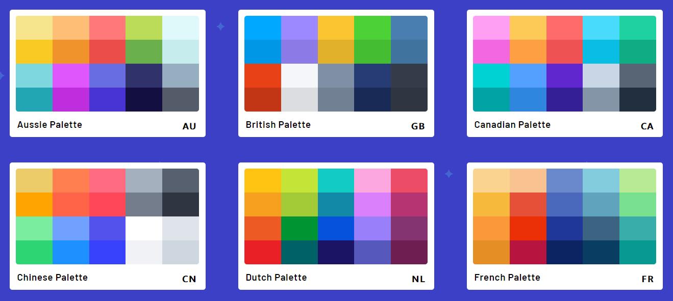 цветовая палитра сочетаний