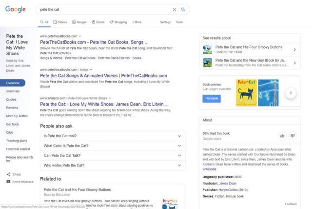 Google тестирует новые разделы в результатах поиска