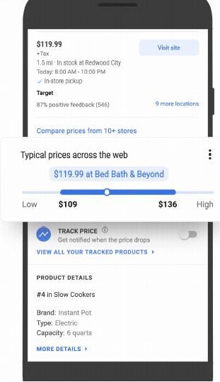 Google Shopping добавил новые функции