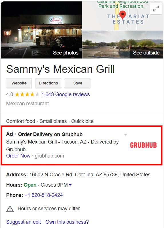 Google продолжает тестировать рекламу для бизнес-профилей