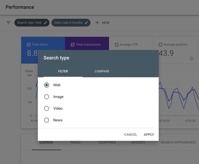 Новый фильтр поиска в Google Search Console
