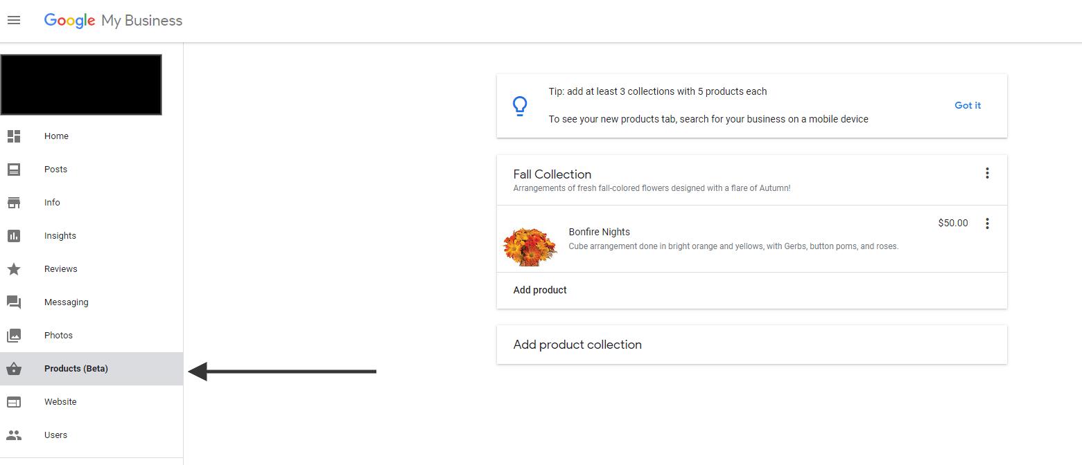 Google обновил дизайн раздела My Business Products