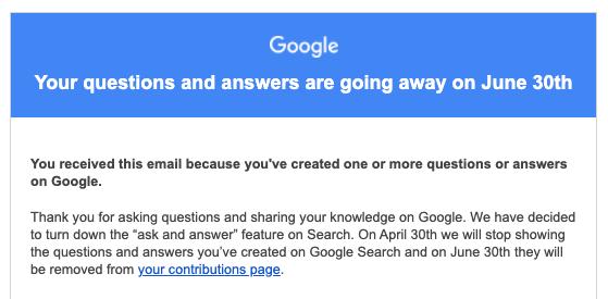 Google убрал ответы на вопросы из результатов поиска1