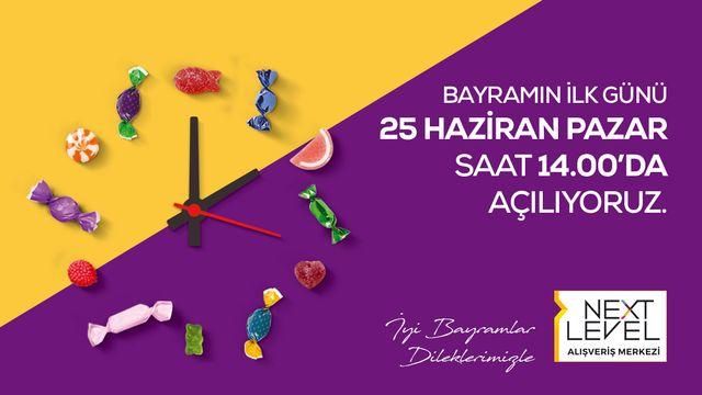 Ramazan bayramında açılış kapanış saatleri
