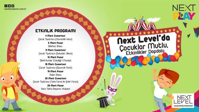 Next Level'da Çocuklar Mutlu, Etkinlikler Dopdolu