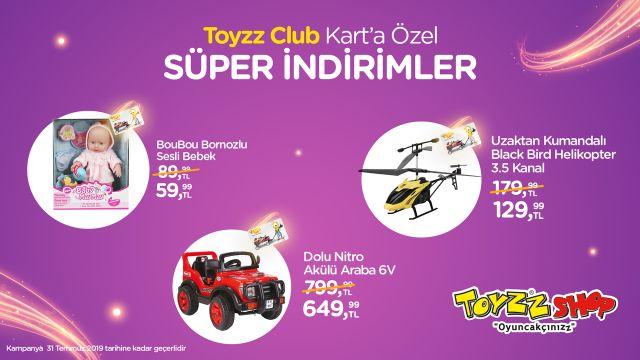 Toyyz Club Kart'a Özel Süper İndirimler