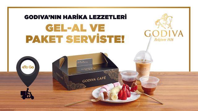 Godiva'nın Harika Lezzetleri Gel-Al ve Paket Serviste!