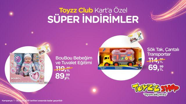 Toyzz Club Kart'a Özel Süper indirimler