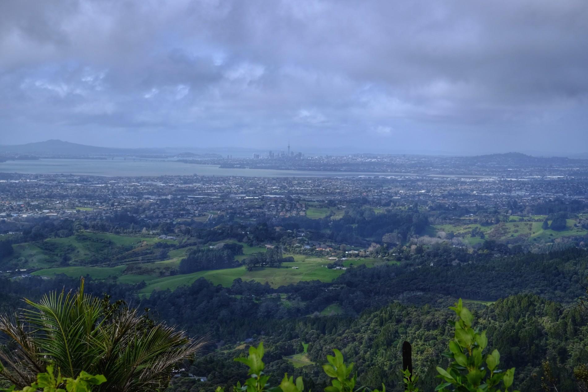 Pohled na centrum Aucklandu