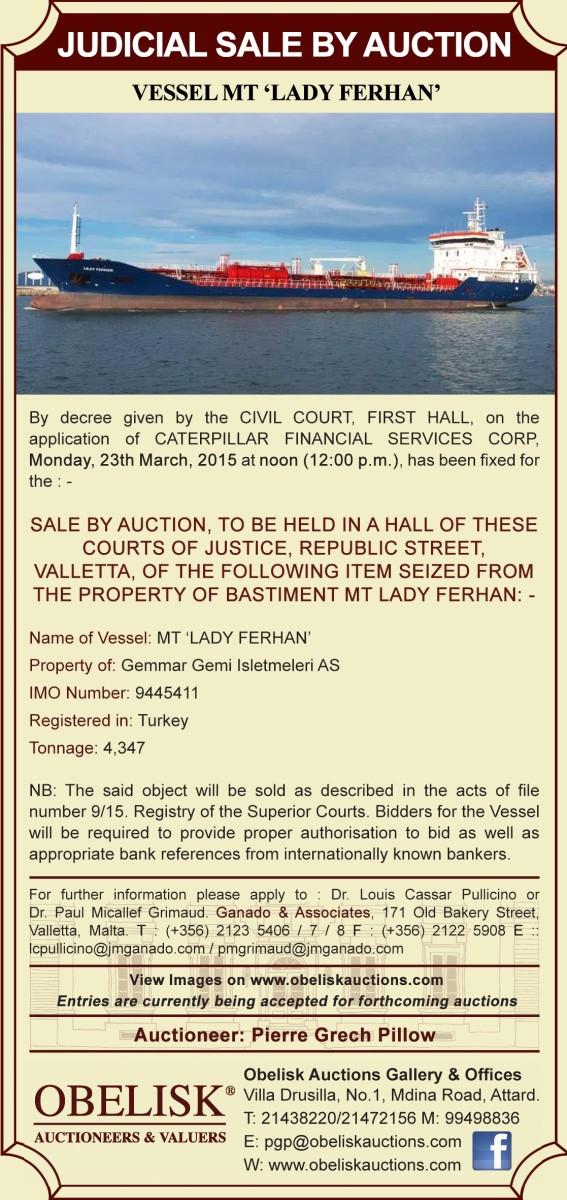 JUDICIAL SALE BY AUCTION