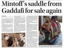 Mintoff's saddle from Gaddafi for sale again
