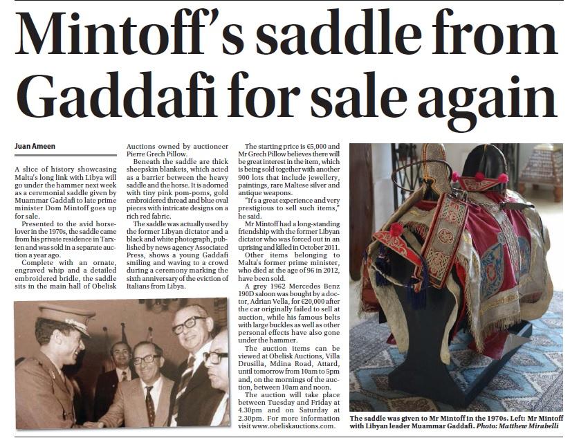 saddle article