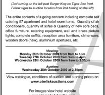 Aparthotel & Catering Auction