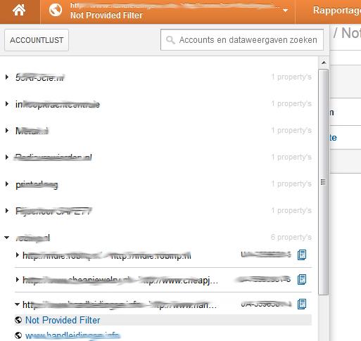 ga filter selecteren - 100% not provided in Google Analytics - Hoe krijg je meer inzicht?