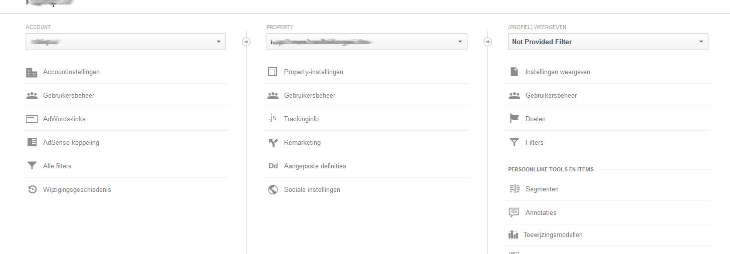 nieuw filter filter aanmaken - 100% not provided in Google Analytics - Hoe krijg je meer inzicht?