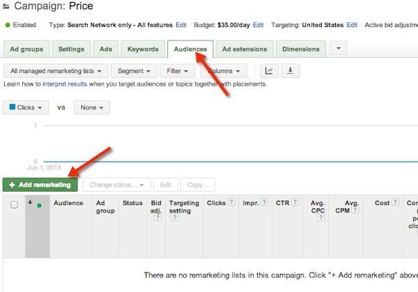 doelgroepen audiences adwords rsla - Google zoekadvertenties voor remarketing