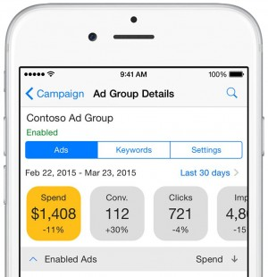bing ads app ad group view e1435510951370 - Bing Ads iOS app nu ook in Nederland te gebruiken