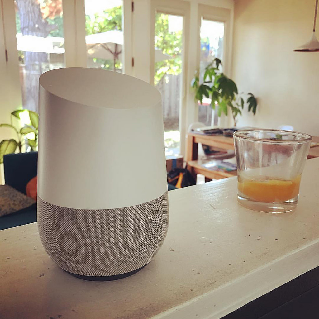 Google Home voice recognition