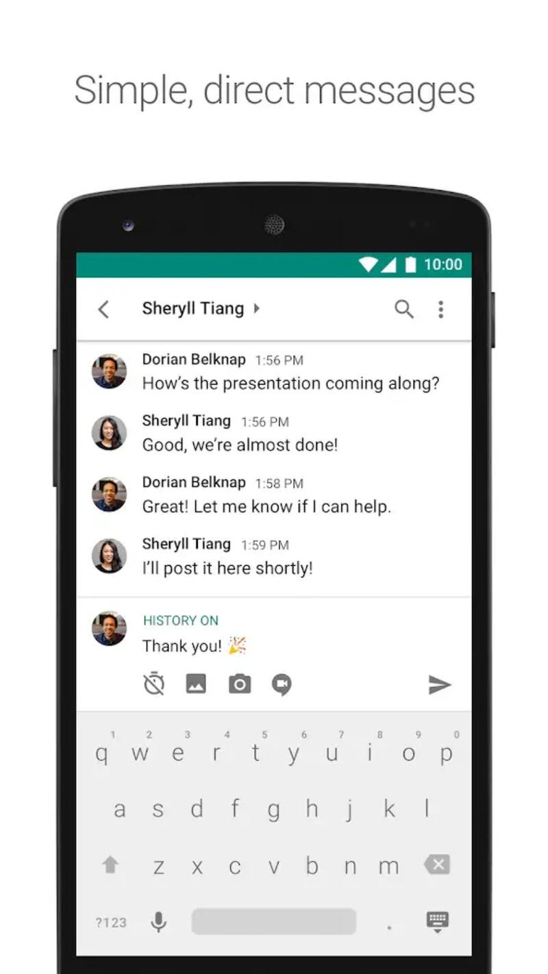 hangouts chat google android - Google's Hangout Chat als Slack Gegner introduziert
