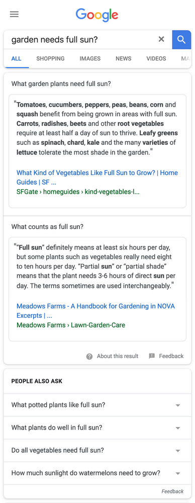 google search multi intent - Google introduceert Featured Snippets voor Multi-Intent Zoekopdrachten