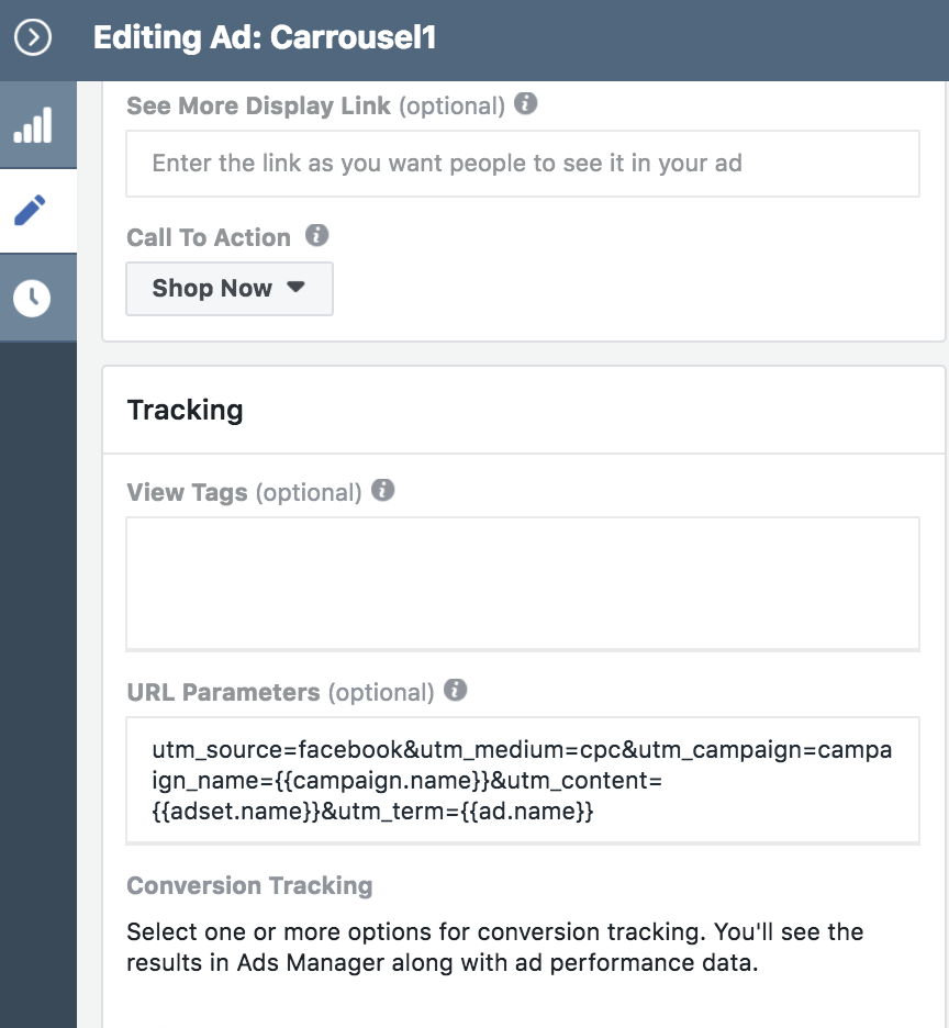 facebook dynamic tracking parameter - Dynamische Parameters gebruiken in Facebook Ads