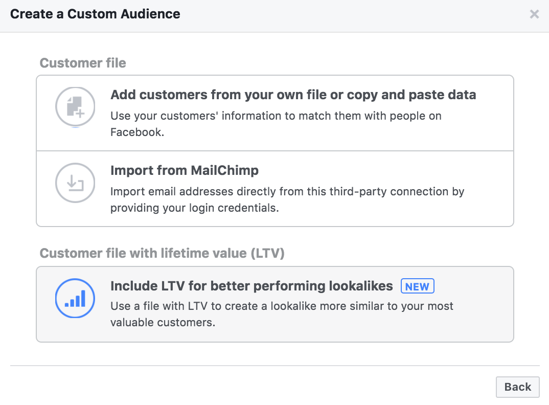 facebook customer match ltv - Facebook voegt Life Time Value toe aan customer match