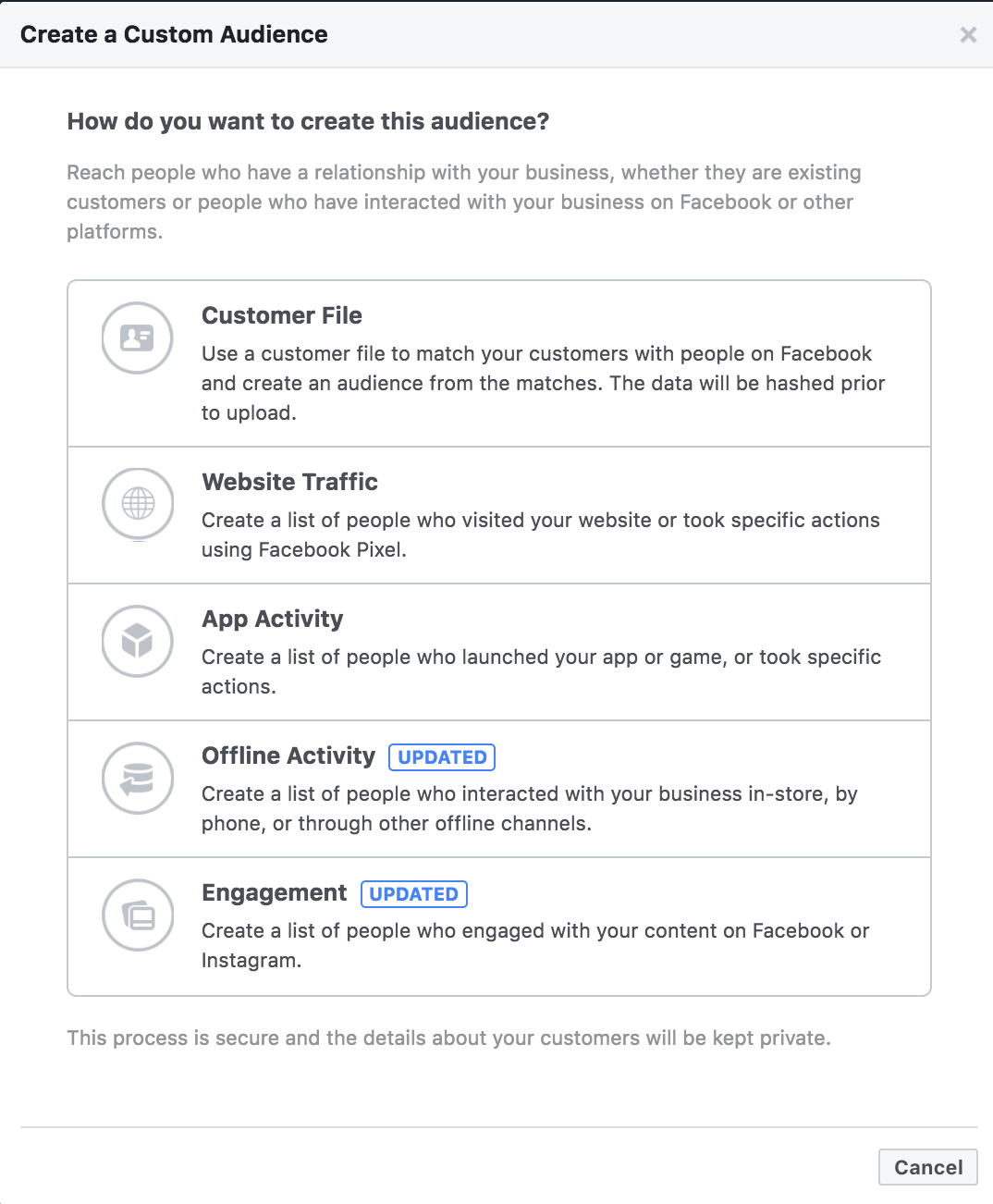 facebook create custom audience - Facebook voegt Life Time Value toe aan customer match