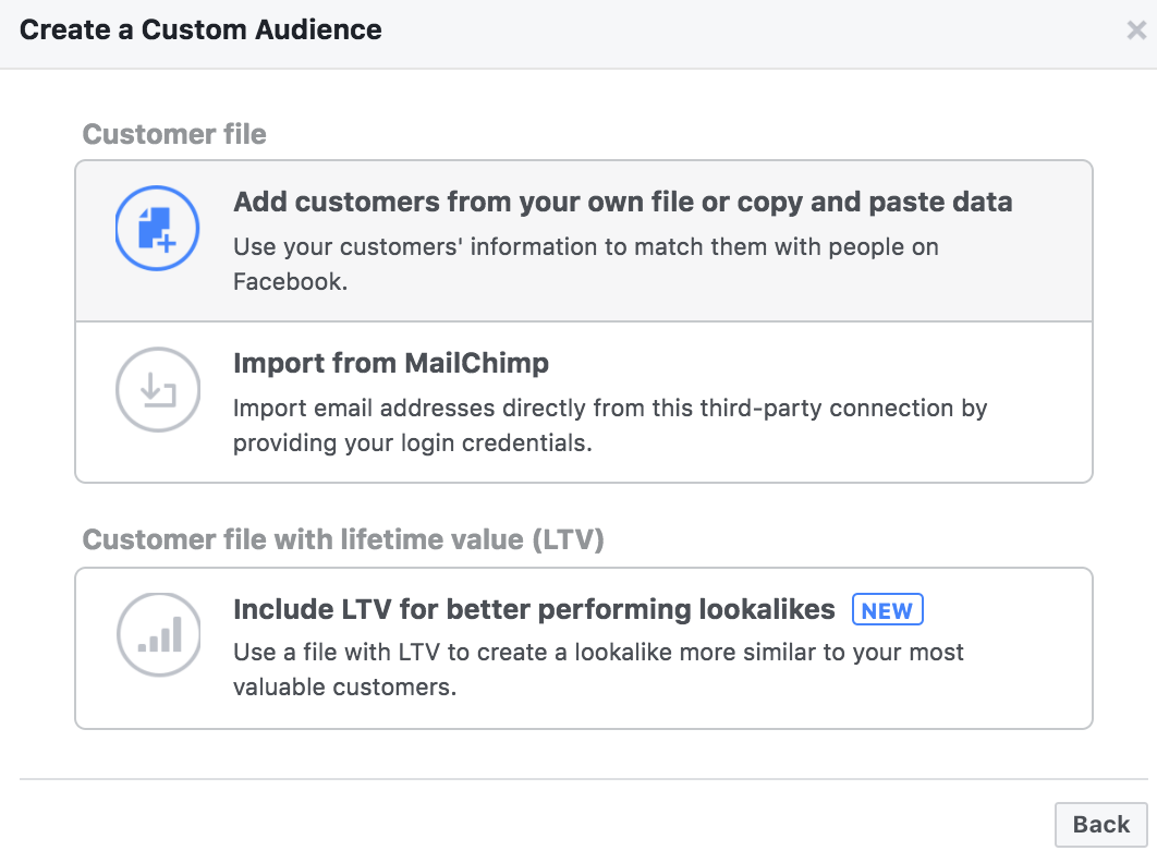 facebook customer match - Facebook voegt Life Time Value toe aan customer match