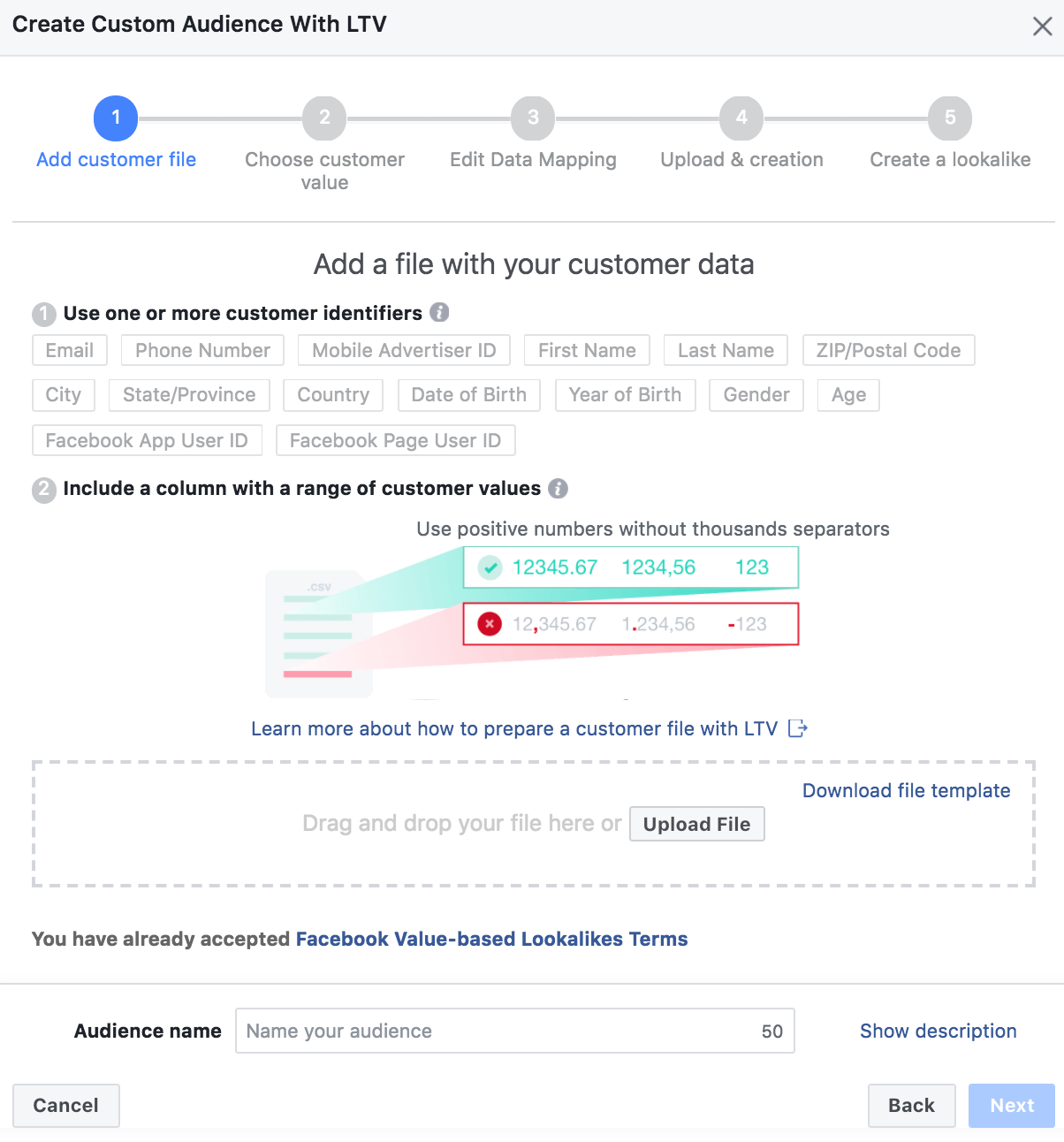 facebook liftime value create list - Facebook voegt Life Time Value toe aan customer match