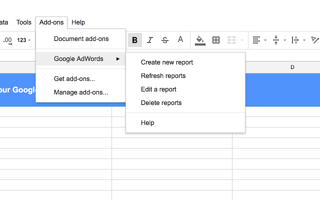 adwords google sheets2 - AdWords introduces App Connector for Google Sheets