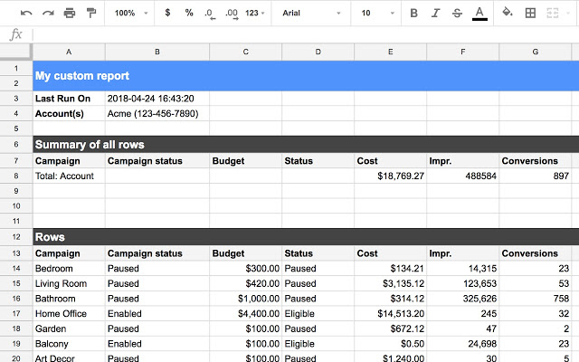 adwords google sheets - AdWords introduces App Connector for Google Sheets