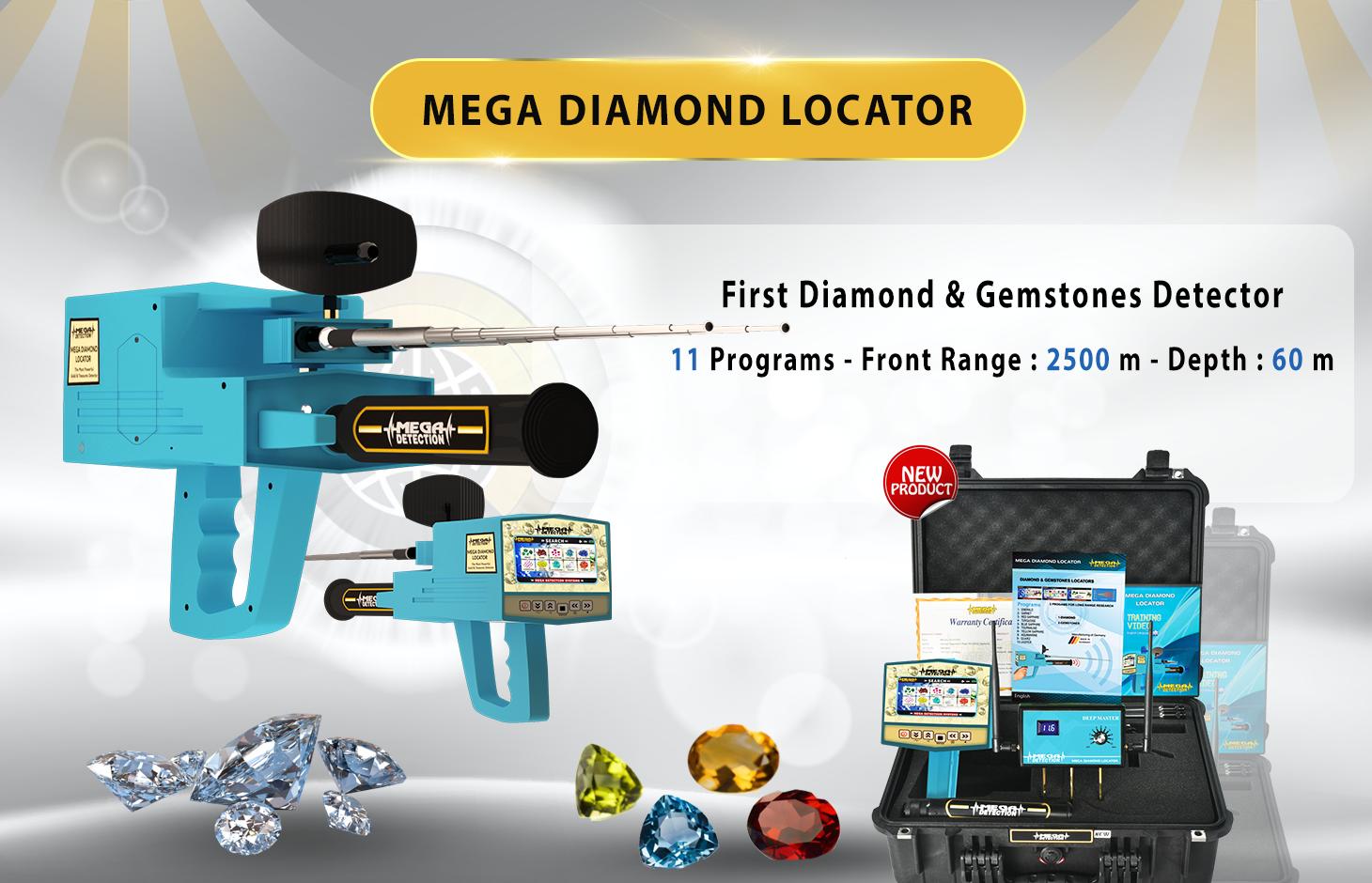 Mega Diamond Locator Long Rang Locators Systems Gold Detectors Detector Professional Metal Detecting Range