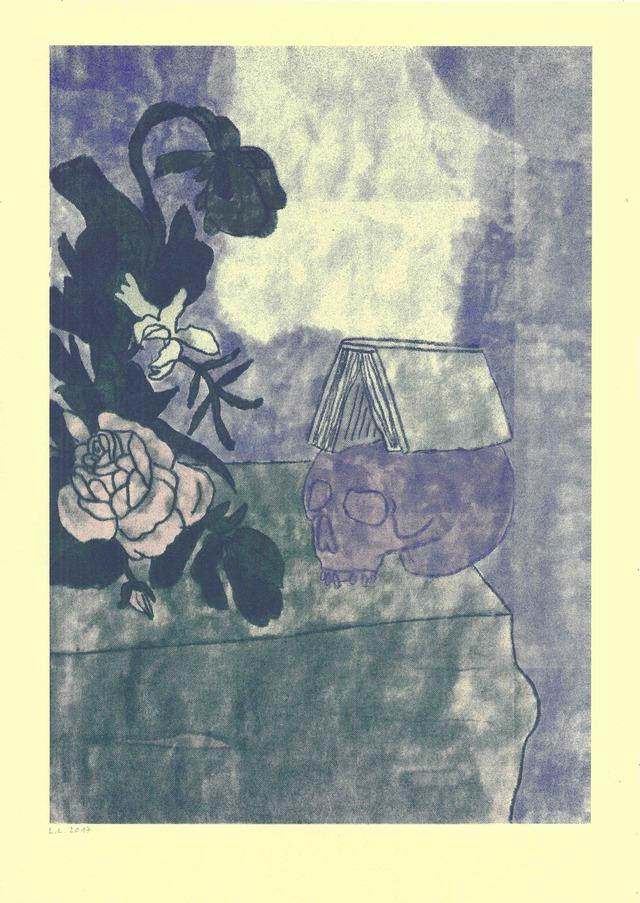 Artwork Lebka s knihou na hlavě main picture