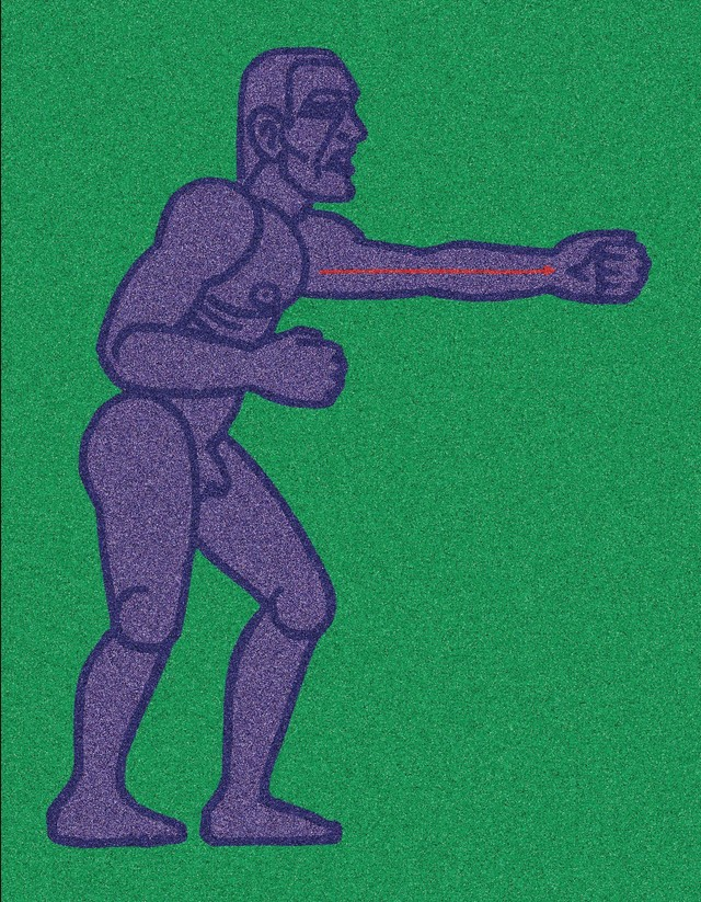 Artwork Boxer with outstretched fist main picture
