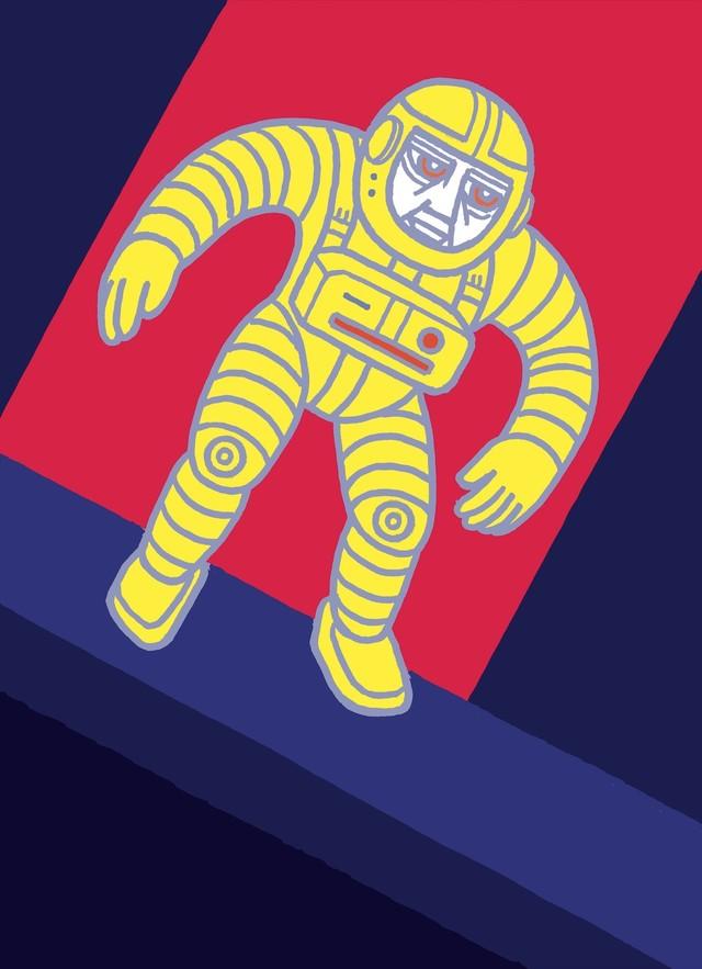 Artwork Kosmonaut žlutý main picture
