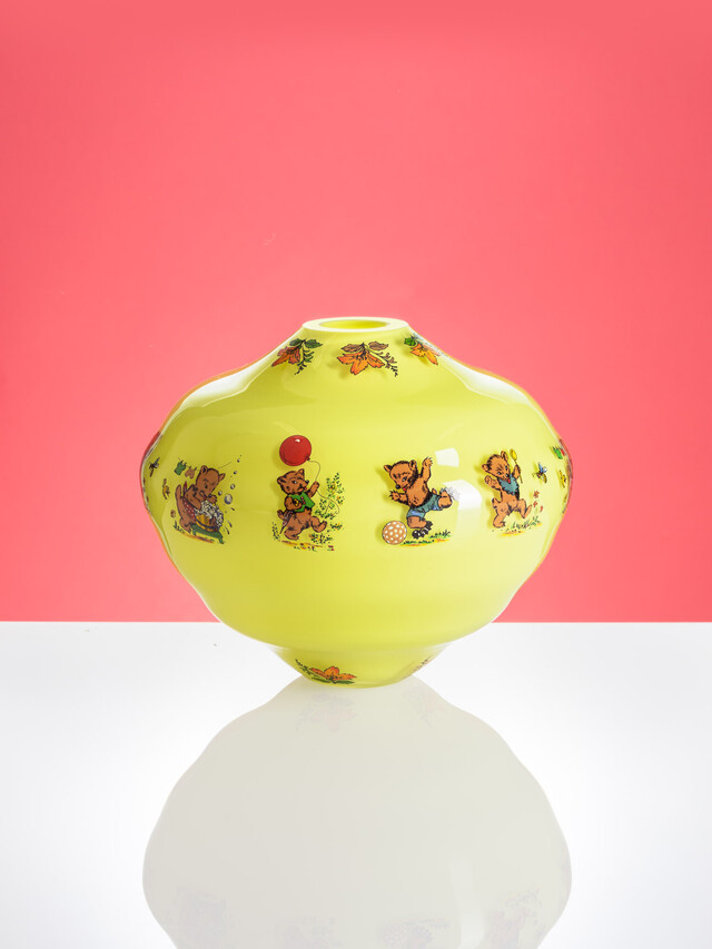 Artwork Decal vase s medvědem main picture