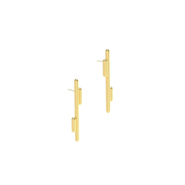 Artwork Space earrings 1010 yellow main picture