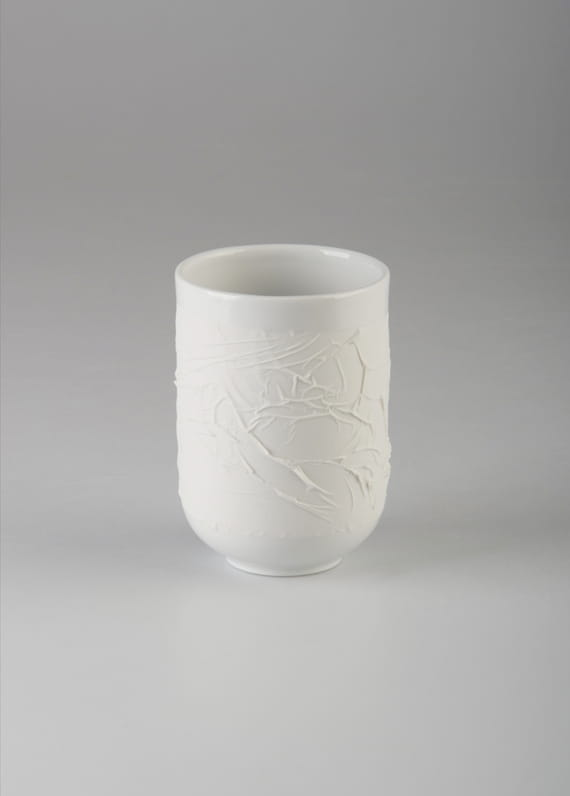 Swallow / WHITE cup 300 ml by  Nalejto,