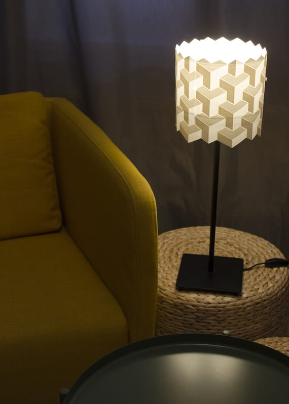 Lamp shade / Puzzle - small by Yozik  lamps,